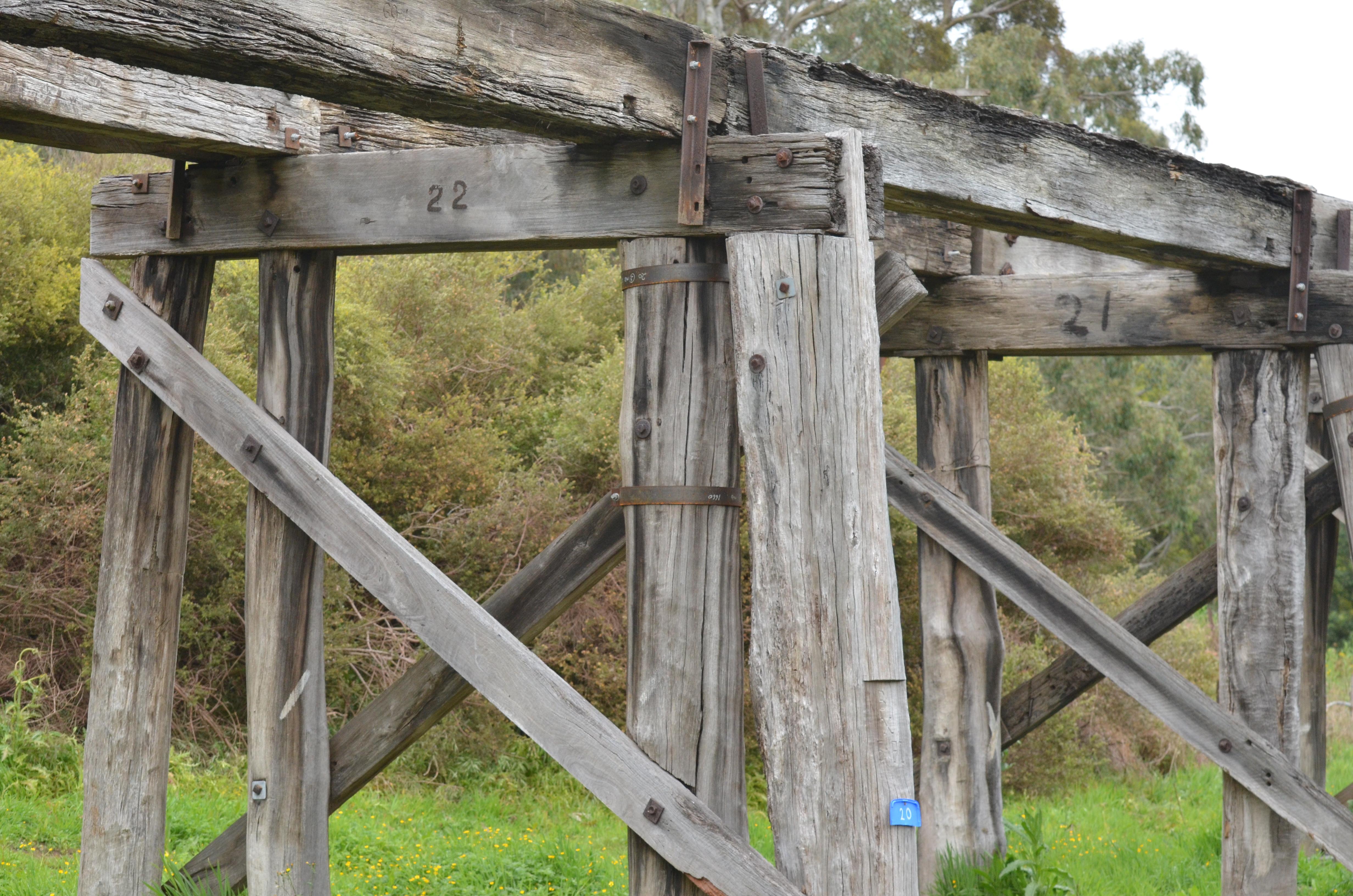 Bridge timbers, Koonwarra