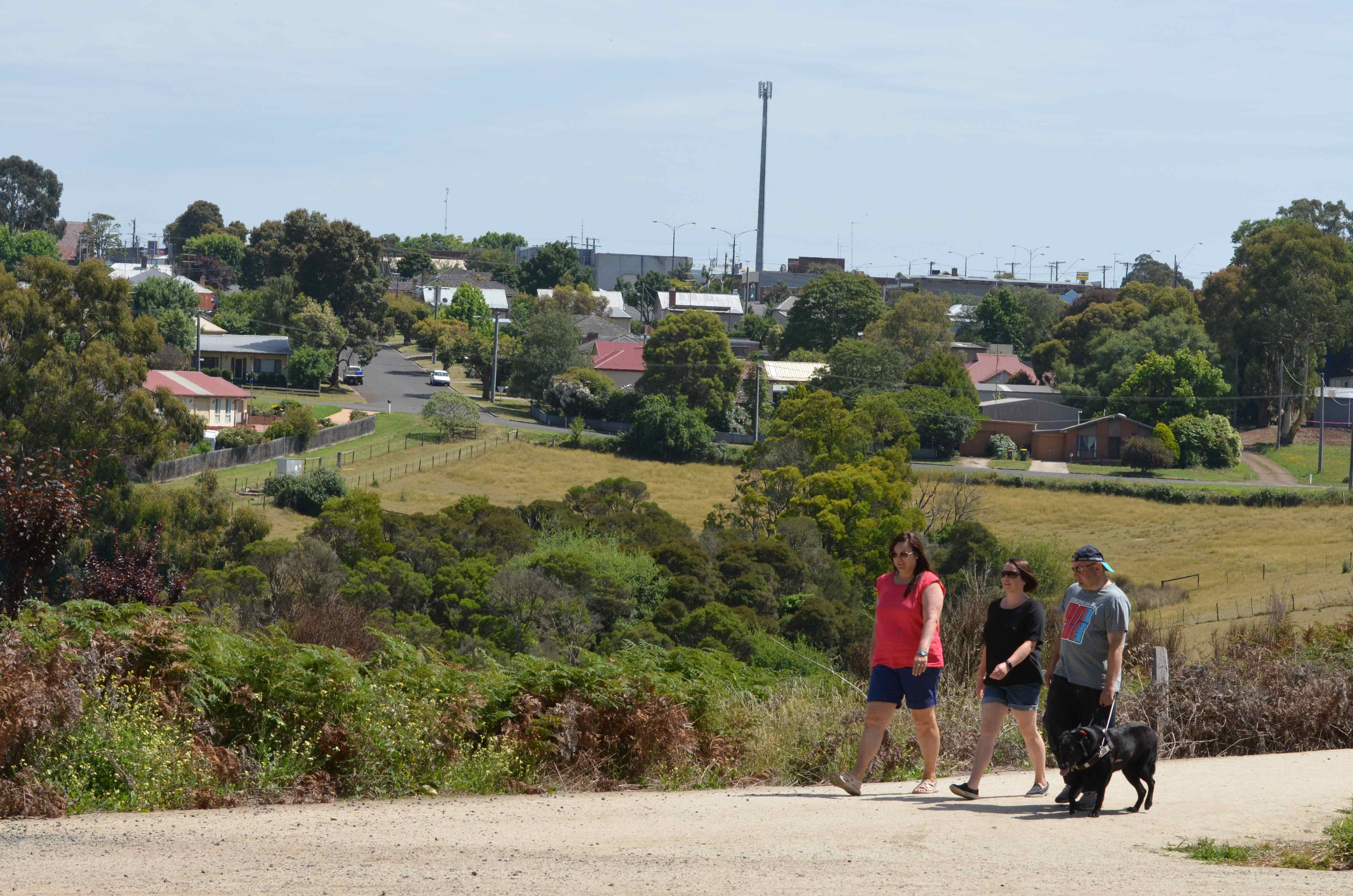 Leongatha, view from the trail