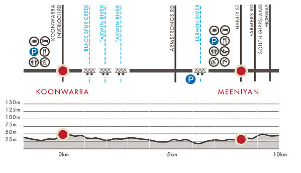 Koonwarra to Meeniyan Section Map
