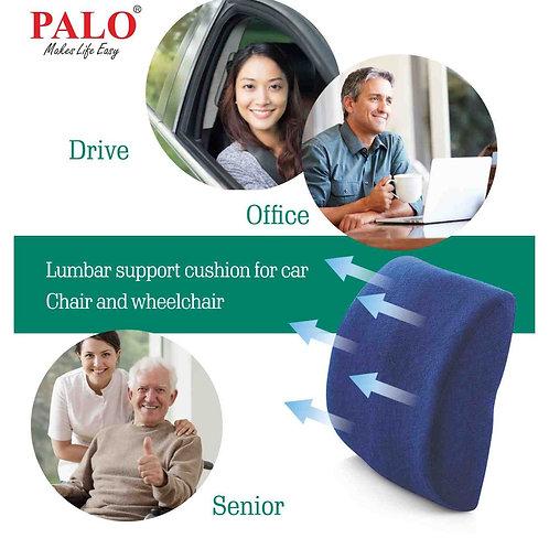 PALO Premium Ergonomic Backrest with Memory Foam, Blue