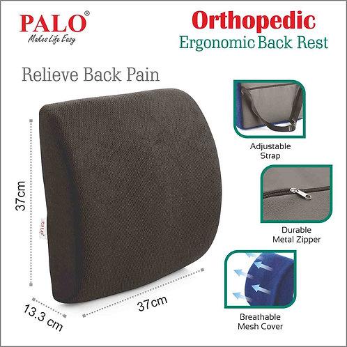 PALO Premium Ergonomic Backrest with Memory Foam: Black