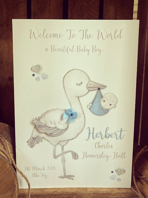 Small New Baby Cards