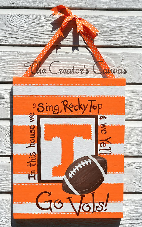 11x14 Tennessee Fan Canvas