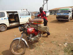 Transporting goods to bussi