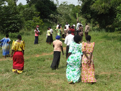 Showing the land for the garden