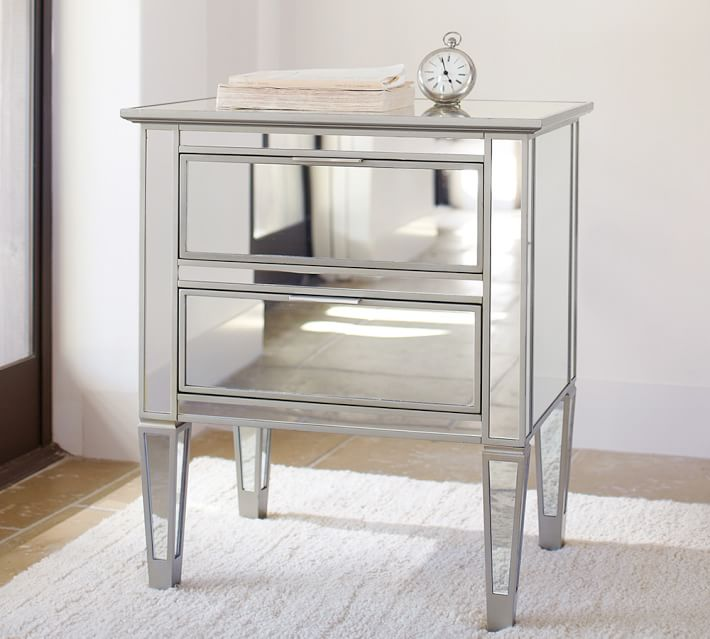 "Park 24"" Mirrored Nightstand"