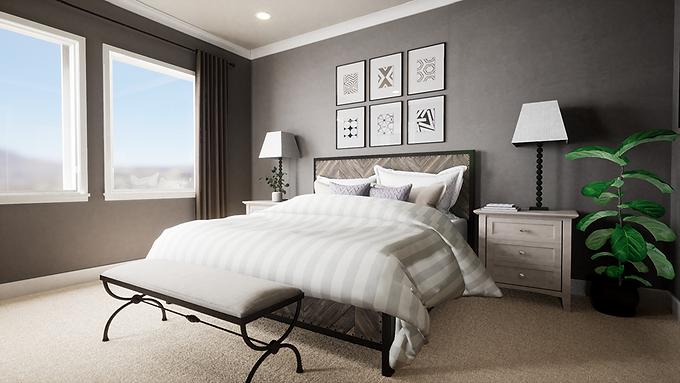 Sophisticated Rustic Bedroom