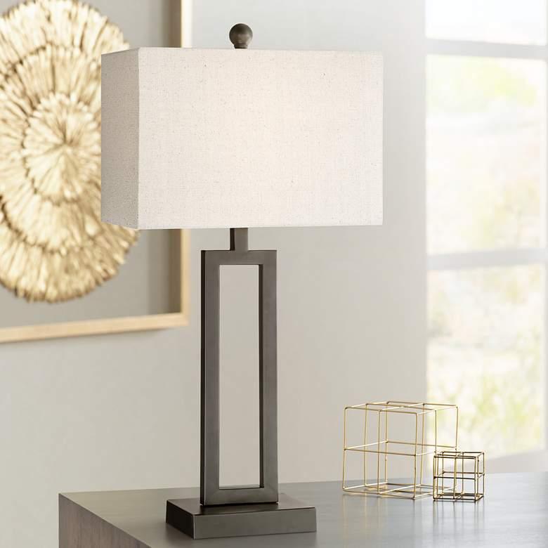 Aston Black Modern Table Lamp