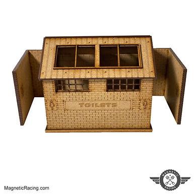 MAGNETIC RACING-033a Toilet Block (Standard) 1:32 Kit