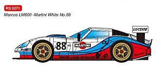 RevoSlot  0071 Future Release Marcos LM600 GT2 No.88 Martini White