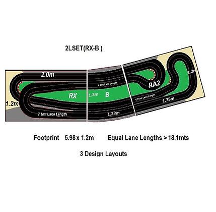 MrTrax 2LSET(RX-B) 2 Lane Modular Track system (3 tables)