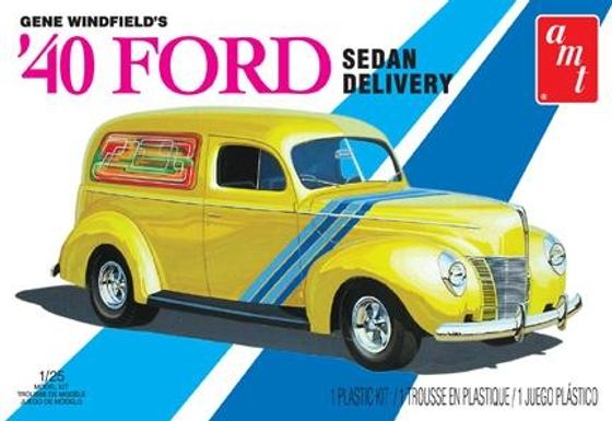 AMT 769 1940 Gene Winfield 1940 Ford Sedan Delivery Model Kit 1/25