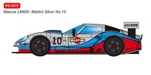 RevoSlot  Future Release  0075 Marcos LM600 GT2 No.10 Martini Silver.
