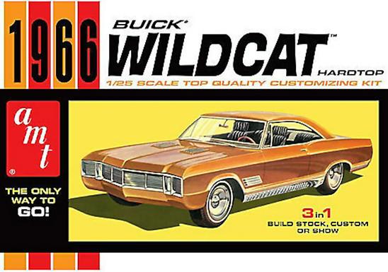 AMT-1175 Scale 1966 Buick Wildcat Hardtop 3 'n 1 Model Kit 1/25