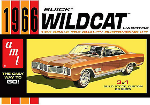 AMT 1175 Scale 1966 Buick Wildcat Hardtop 3 'n 1 Model Kit 1/25