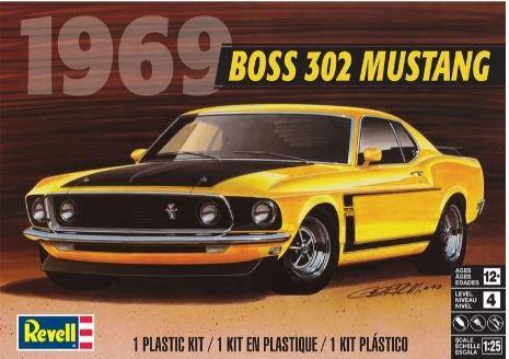 REVELL-14313 1/25 1969 Boss 302 Mustang Plastic Model Kit