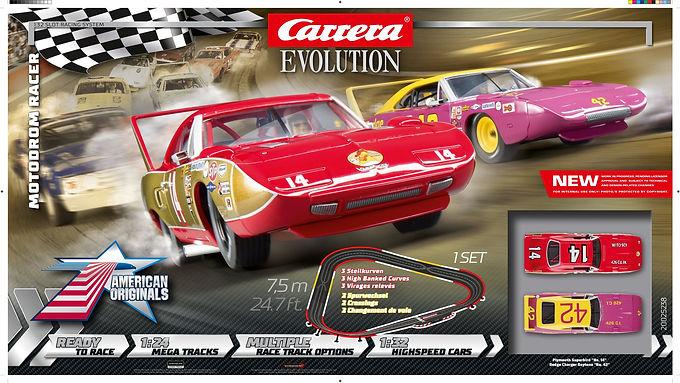 CARRERA-25238 Evo Motodrom Racer -Dodge Charger & Plymouth Superbird