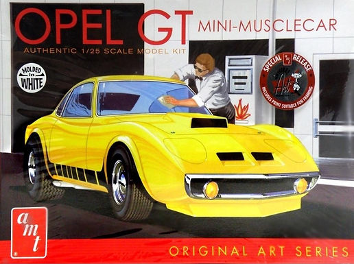 AMT 769 1/25 Buick Opel GT White Model Kit 1/25