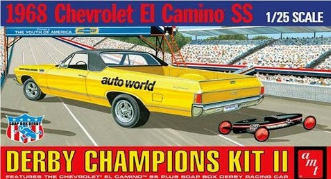 AMT 1018 Derby Champions Kit II 1968 Chevrolet El Camino SS 1/25