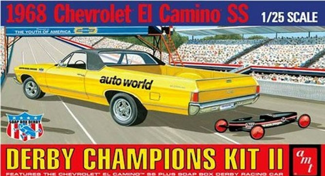 AMT-1018 Derby Champions Kit II 1968 Chevrolet El Camino SS 1/25