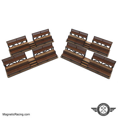 MAGNETIC RACING-014 Mini Spectator Stands (4) 1:32 scale Kit