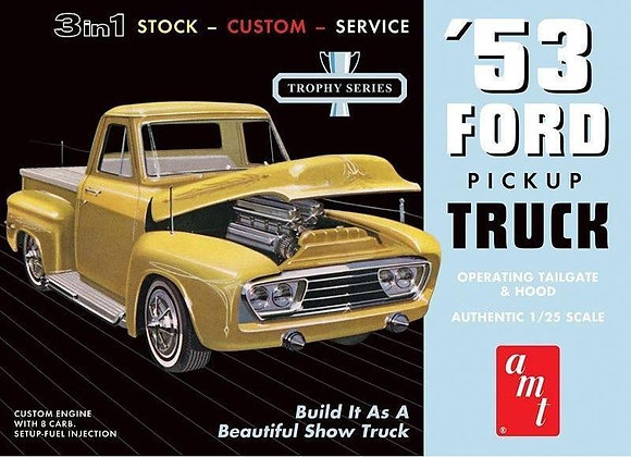 AMT 882 1953 Ford Pickup Truck Model Kit 1/25