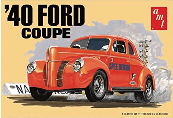 AMT 1141 1940 Ford Coupe Model Kit 1/25