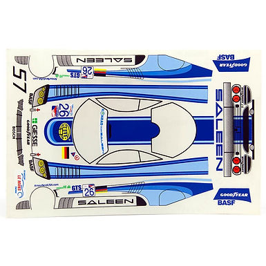 JK-7112ST 1/24 Decal Sheet - Saleen #26