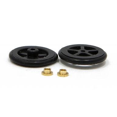 "JK-T125O (JK8724) 5/8"" Scale Fronts. Black Plastic - 1 Pair"