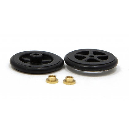 "JK T125O (JK8724) 5/8"" Scale Fronts. Black Plastic - 1 Pair"