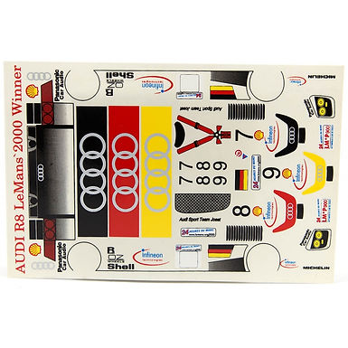 JK-7192ST 1/24 Decal Sheet - Audi R8 Le Mans 200 Winner LMP #7,8,9