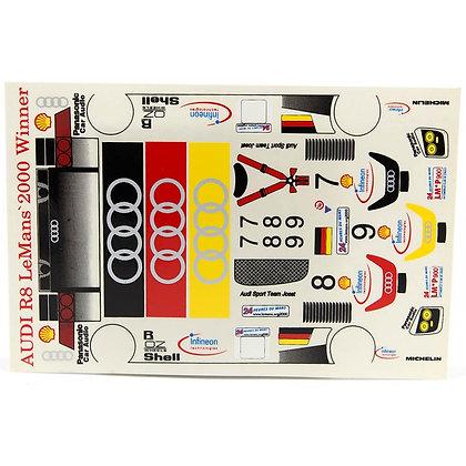 JK 7192ST 1/24 Decal Sheet - Audi R8 Le Mans 200 Winner LMP #7,8,9