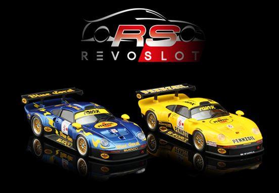 REVOSLOT-0105 Future Release PORSCHE 911 GT3 BLUE CORAL & PENNZOIL TWIN PACK