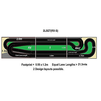 MR TRAX-2LSET(RX-S) Modular Track system - 2 Lanes (3 tables)