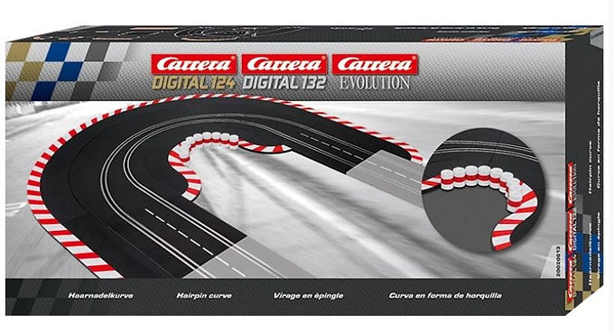 CARRERA 20613 Hairpin Curve Set 1/60 deg (19 pieces)