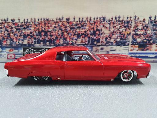 MR SLOTCAR-Street Drag Car Red Monte Carlo