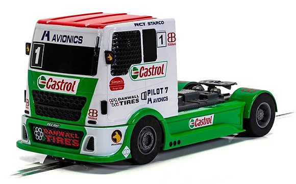 SCALEXTRIC Future Release C4156 RACING TRUCK - RED & GREEN & WHITE