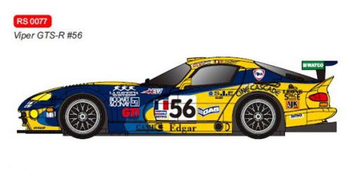 REVOSLOT-0077 Dodge Viper GTS-R No.56 Le Mans 2001