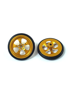 JK-TDF2G 5-Spoke 3D Rear Drag Wheel, Gold (pr)