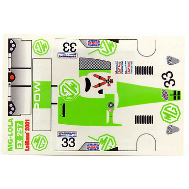 JK-7198ST 1/24 Decal Sheet - MG Lola (Green) #33 LMP