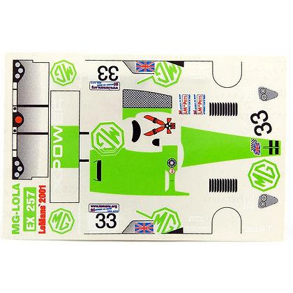 JK 7198ST 1/24 Decal Sheet - MG Lola (Green) #33 LMP
