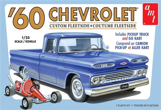 AMT-1063 1/25 Chevy Custom Fleetside Pickup Plastic Kit