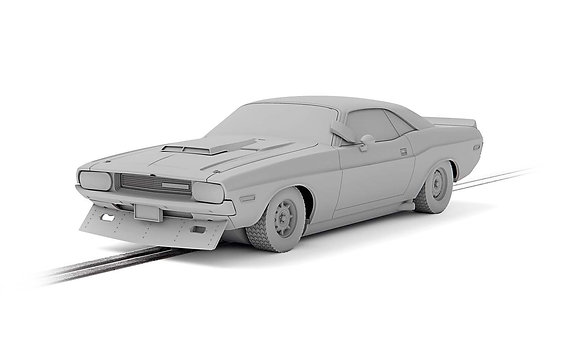 SCALEXTRIC Future Release C4164 DODGE CHALLENGER - SAM POSEY NO.76