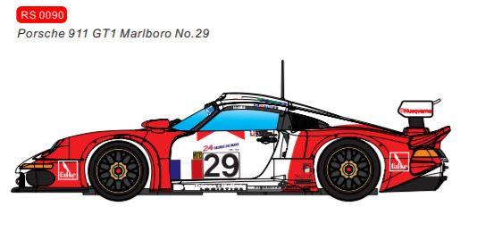 REVOSLOT-0090 Porsche 911 Future Release GT1 Marlboro #29