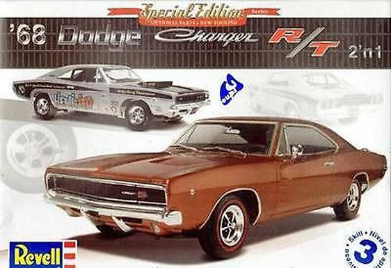 REVELL-14202 1/25 1968 Dodge Charger R/T Plastic Model Kit