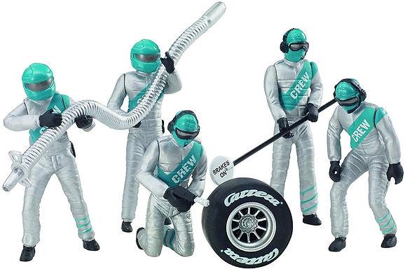 CARRERA-21133 set of 5 figures Mechanics in Silver