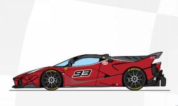CARRERA-30971 Future Release Digital Ferrari FXX K Evoluzione #93