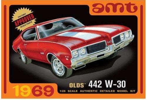 AMT 1105 1969 Olds W-30 442Model Kit 1/25