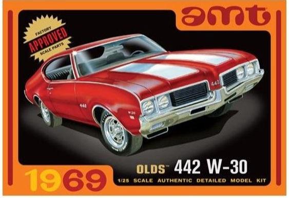 AMT-1105 1969 Olds W-30 442Model Kit 1/25