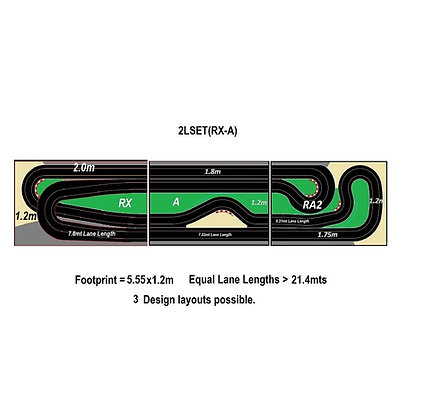 MrTrax 2LSET(RX-A) 2 Lane Modular Track system (3 tables)